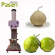 Coconut dehusking machine/ semi husked coconut equipment/ fresh young coconut peeling machine