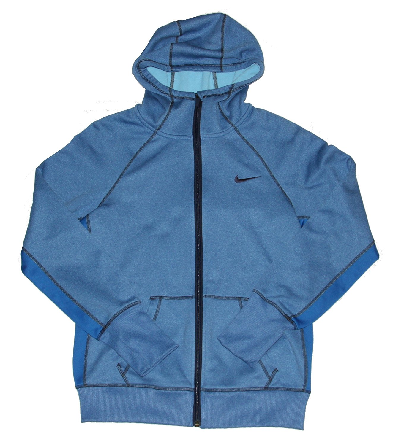 c13a9bba9f4b8 Buy Nike Womens Therma Fit All Time Full Zip Hoodie Sweatshirt Blue ...