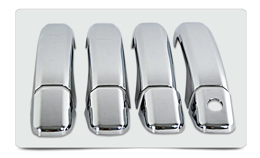 2014-2015 Chevy Silverado Accessories/ Sierra Crew Cab Door Handle Cover ABS Chrome 4D No PSKH