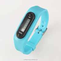 Cheap promotion gift watch LED digital Wrist watches, promotion LED Digital pedometer silicone watch