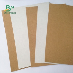 FSC Certified One Size White Recycled Pulp Brown Kraft Paper Roll, Kraft Liner Board Recycled Craft Paper