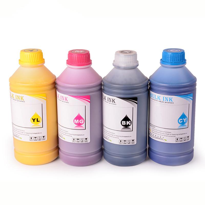 OCBESTJET LED UV-Tinte 250ML für Epson 1390 L800 1400 1410 1430 1500W R280 R290 R330 L1800 UV-LED-Drucker (BK C M Y Weiß)