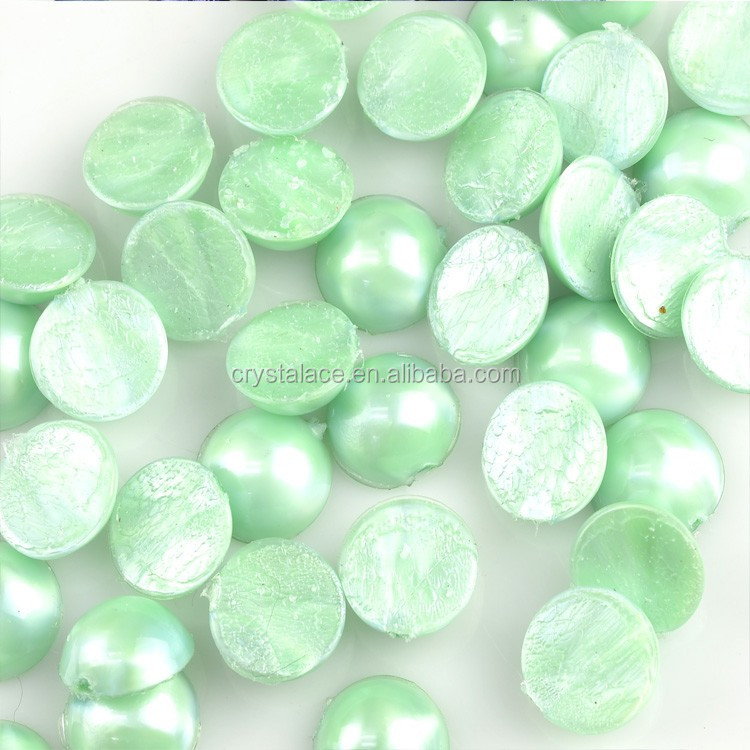 New Style Neon Acrylic Hotfix Half Pearls, Flat Back Jelly Transfer Half Pearls Wholesale for Dress Decoration