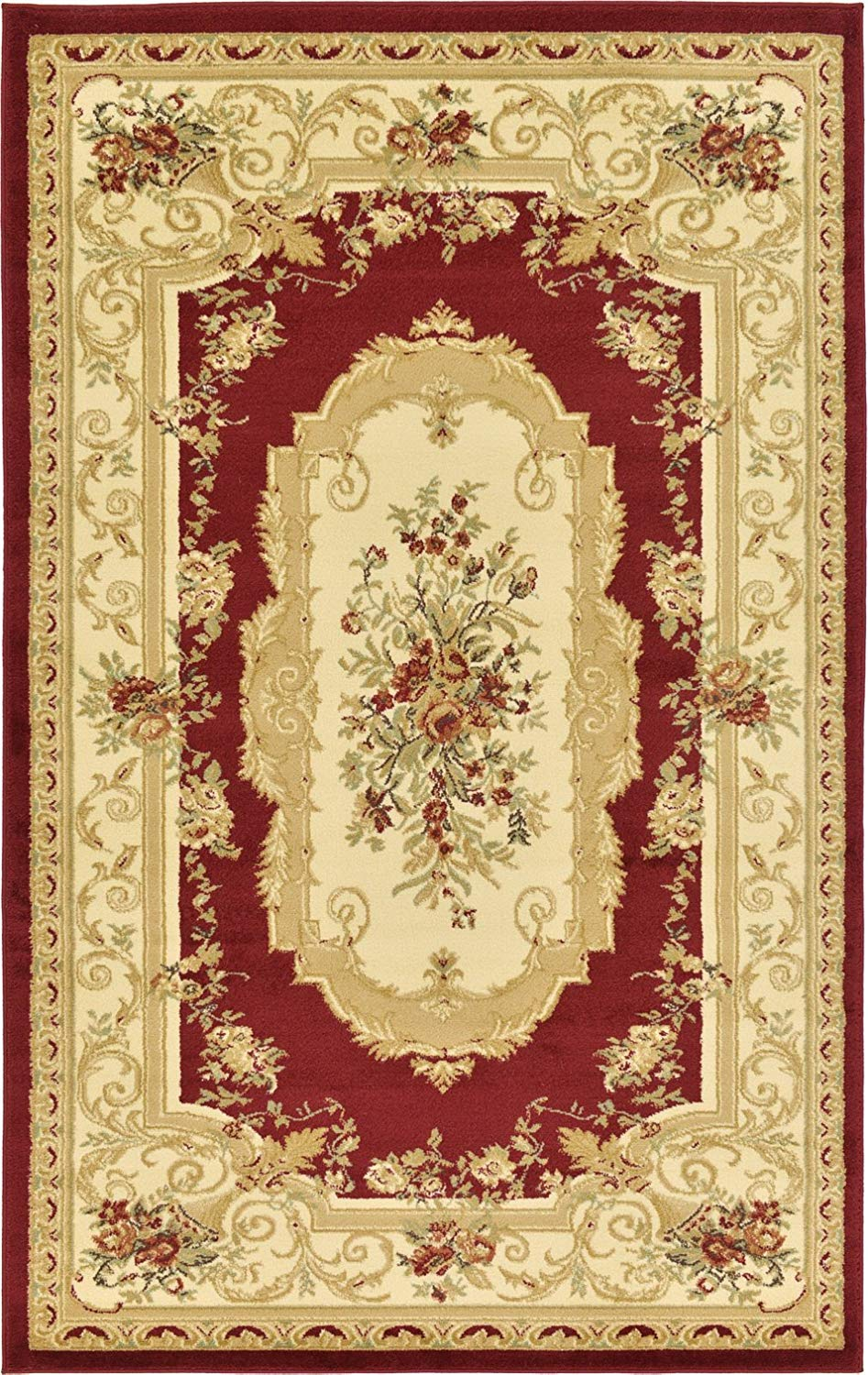 Get Quotations Persian Traditional Design Rugs Red 5 X 8 Feet Tiba Collection Area