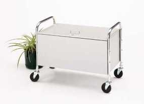 Charnstrom Roll Away Solid Bin Cart with Locking Lid (M021)