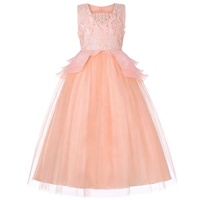 Hot Sale High Quality New Model Embroidered Flower Baby Girl Party dress party baby girl