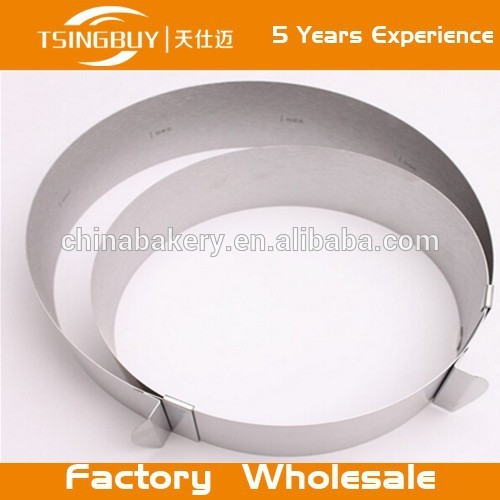 Stainless steel Flexible Mousse Ring/ Cake Mold