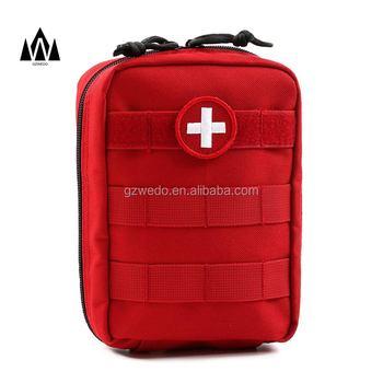 Tactical MOLLE EMT Medical First Aid Pouch IFAK Utility Pouch Red