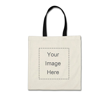 99b501596 Promotion Customized White Cotton Canvas Tote Foldable Shopping Bag Letter  Printed