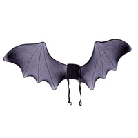 Plush Wings for Costume Wing Accessories Kids Cosplay and Pretend Play Black Bat Wing