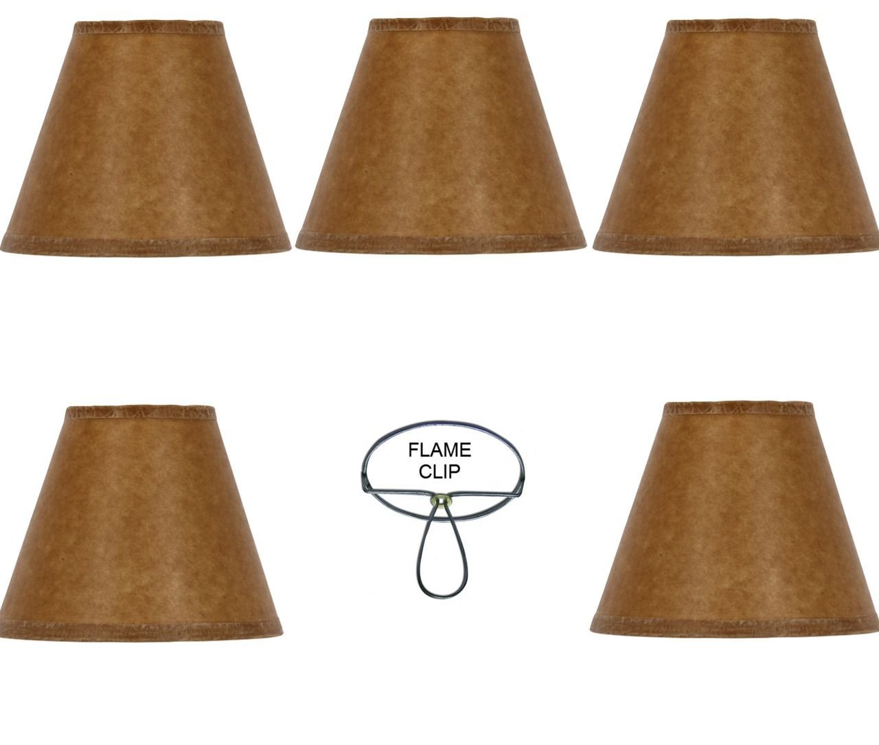 Cheap paper lamp shades find paper lamp shades deals on line at get quotations mini chandelier shades clip on small lamp shades set of five oiled craft paper aloadofball Image collections