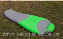 Top selling camping down mummy sleeping bag for cold weather
