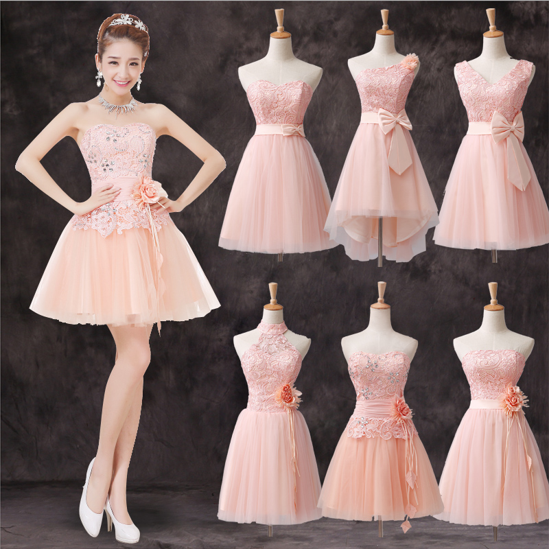 Rosa Color Pastel Vestido Vestido Color Pastel Rosa F6mb7gyviy