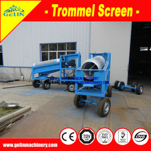 Small scale mineral trommel washing screen in tin separation