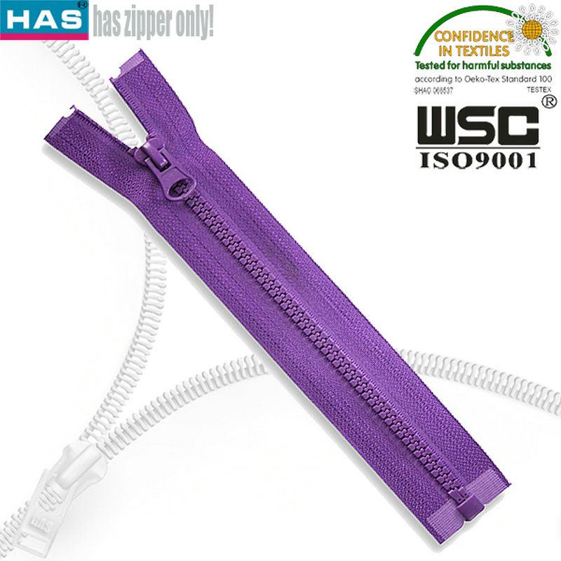 Newest Style plastic Open End Zipper Company