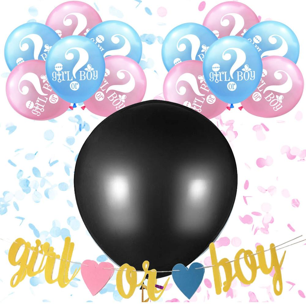 12 Inch 36 Inch Latex Free Balloon Gender Reveal Party Supplies Kit Baby Shower Decorations
