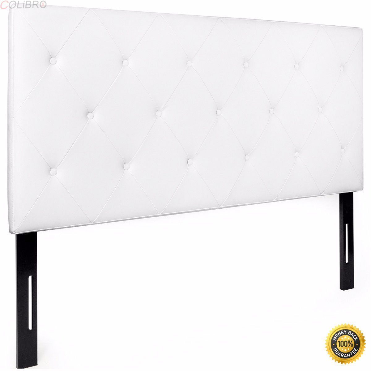 COLIBROX--Upholstered Tufted diamond button Headboard Queen Modern pu leather Bedroom,queen headboards,upholstered headboards queen,queen size headboards,cheap queen headboards