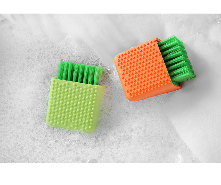 Amazon Hot Sale Multifunctional Portable Household Soft Hair Cleaning Clothes Washing Dual Purpose Silicone Laundry Scrub Brush