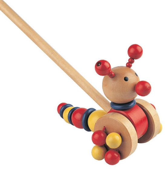 Kids Funny Play Wooden Elephant Pull Along Toy
