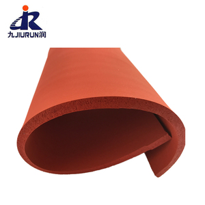Hot sales Promotional red color silicone rubber foam sheets