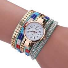 Sloggi charming colorful crystal bracelet female watch two-lap winding ladies fashion quartz watch