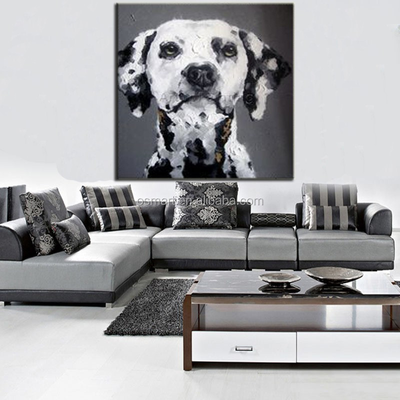 Home Goods Artwork: Home Goods Wall Art Lovely Dog Canvas Paintings Oil