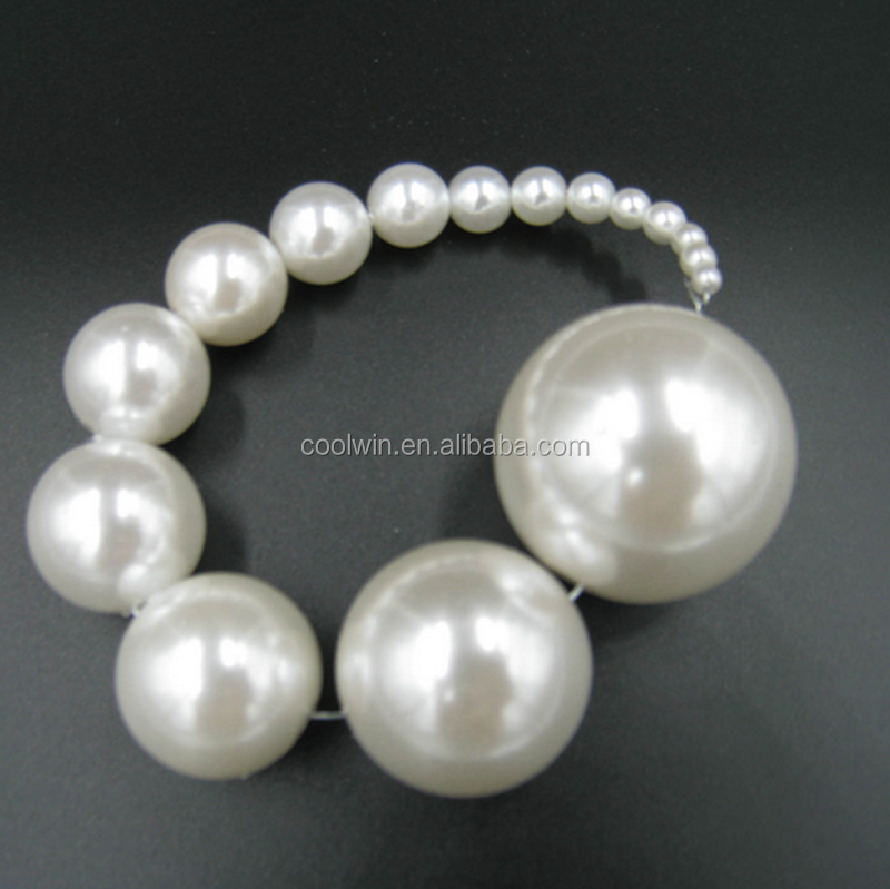 CoolWin full drilled AAA grade faux 25mm large ABS loose pearls for jewerly