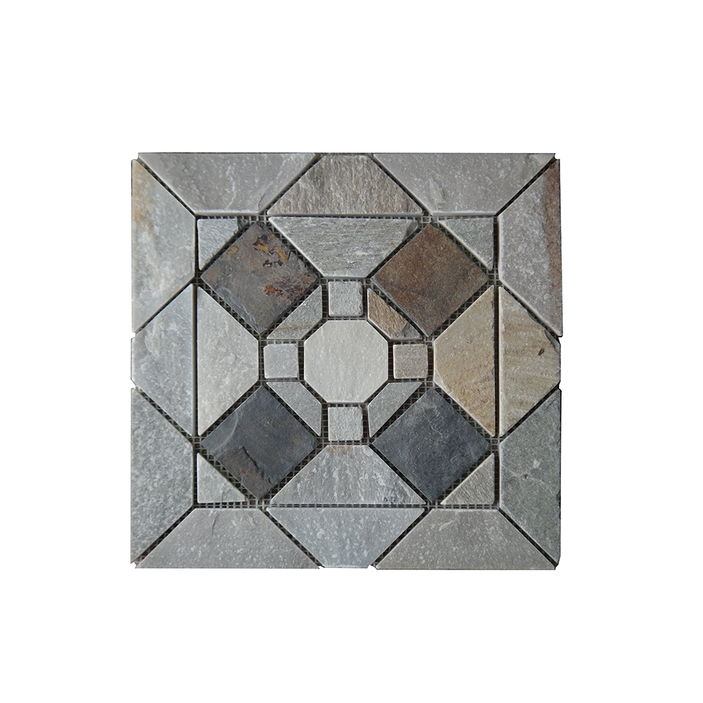 - China Multicolor Ledge Stone Broken Backsplash Mosaic Slate Tile