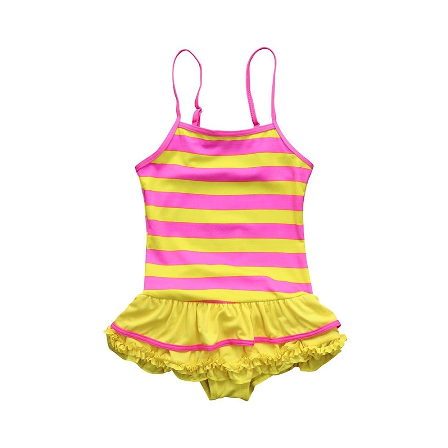 ab548de62a Get Quotations · Bikini For Little Girls, Baby Girl Striped Romper Ruffles  Swimsuits Straps