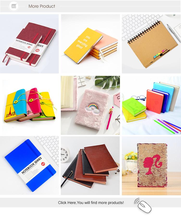 Pena dan Buku Harian Set Spiral Hardcover Notebook dengan Pena