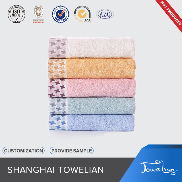 jacquard satin embroidered face towel