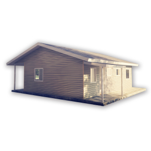 Prefab Log Cabins Portable steel Log cabin garden kits House for sale