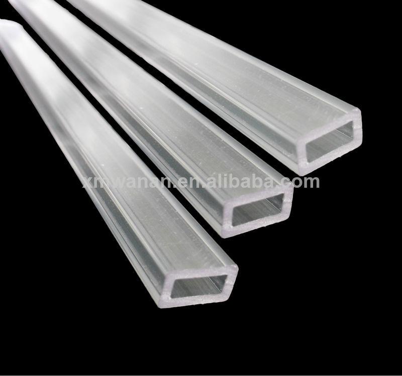 Pc ou pmma tubo de pl stico transparente tubo retangular - Tubo pvc cuadrado ...