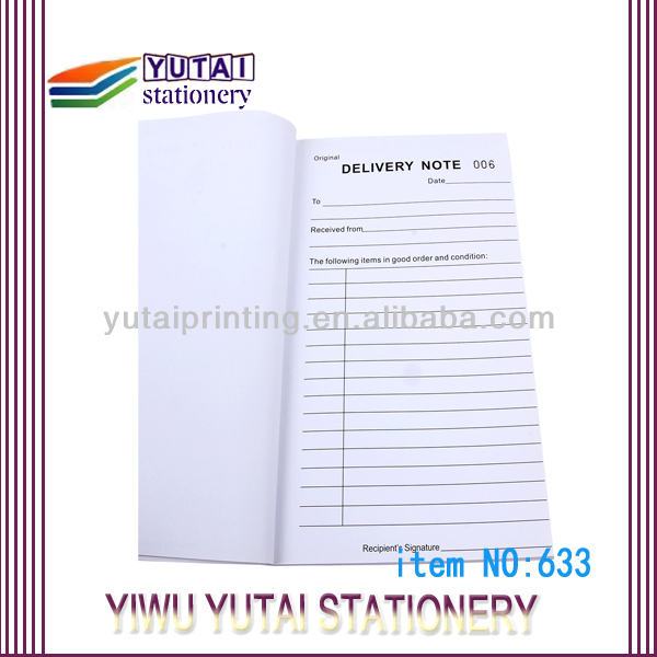 Yiwu China Sample Delivery Order Form Samples Buy Sales Order – Delivery Order Sample