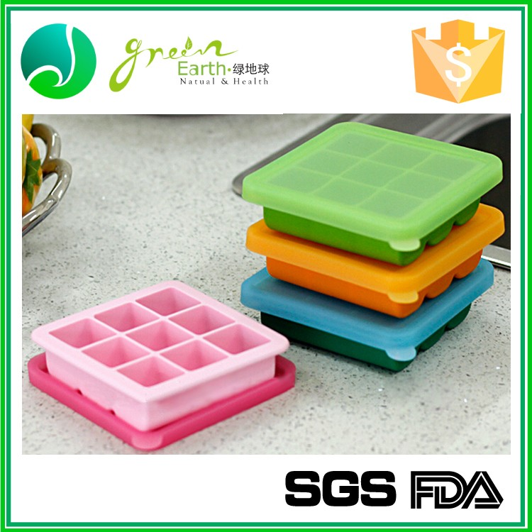 Silicone Baby Food Freezer Tray With Lid Baby Food Storage