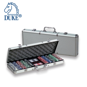500pcs Poker Chips & 2Decks Playing Cards Game Set in Aluminum Case