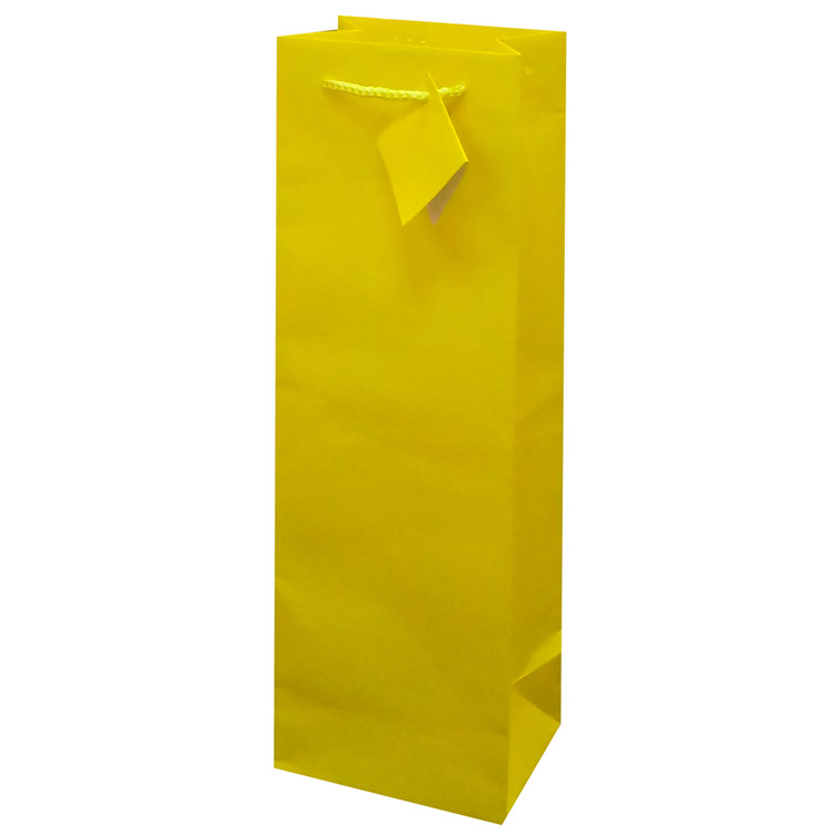 2019 Fashionable Foldable Wedding Gift Paper Bag With Ribbon Handles, Wine Bottle Paper Bags