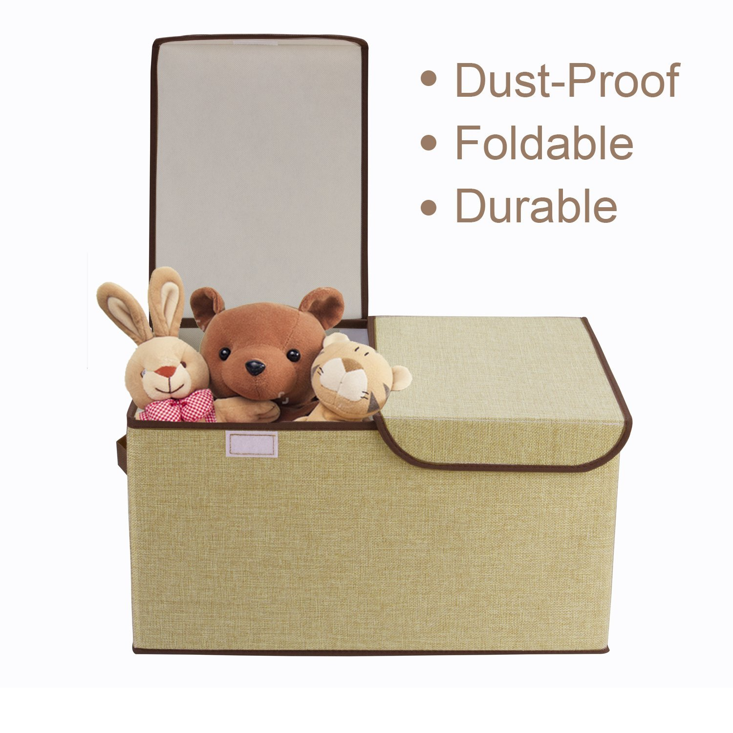 Get Quotations Foldable Storage Cubes Cshidworld Fabric Bin Dual Clothing Baskets Box With Lid