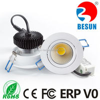 120-150lm/w 3 inch 6W epistar cob led ceiling downlight with CE ROHS FCC ERP V0