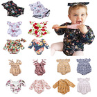 wholesale newborn kids infant flower floral petal onesie baby girl long sleeve toddler children romper With Different Colors