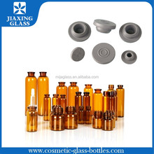 Hot Selling 10ml Glass Vial for Steroids Aluminum Cap Butyl Rubber and Silicone Rubber
