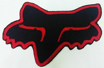 fox racing logo patches embroidered iron on fabric appliques buy rh alibaba com fox racing embroidered patches