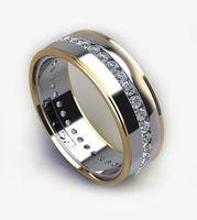 rich diamonds heavy design white gold ring