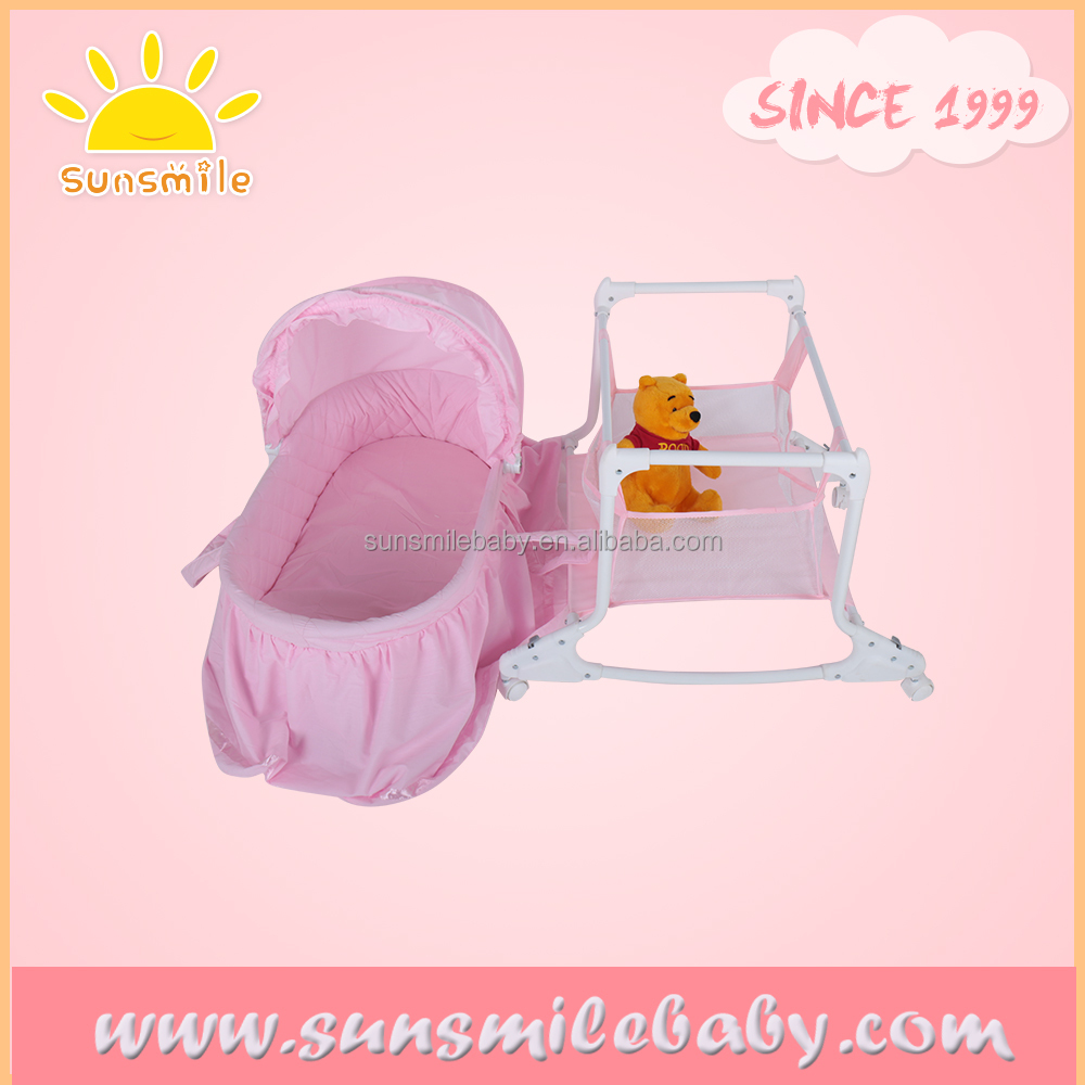 rocking baby portable cradle with baby cradle stand