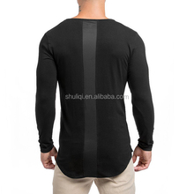 Comfort long tee mens shirts custom, blank new model t shirts with high quality stitching