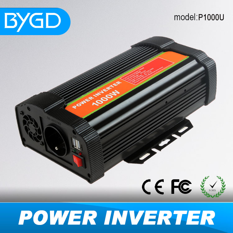 1000W car inverter 12v to 220v dc ac car power inverter