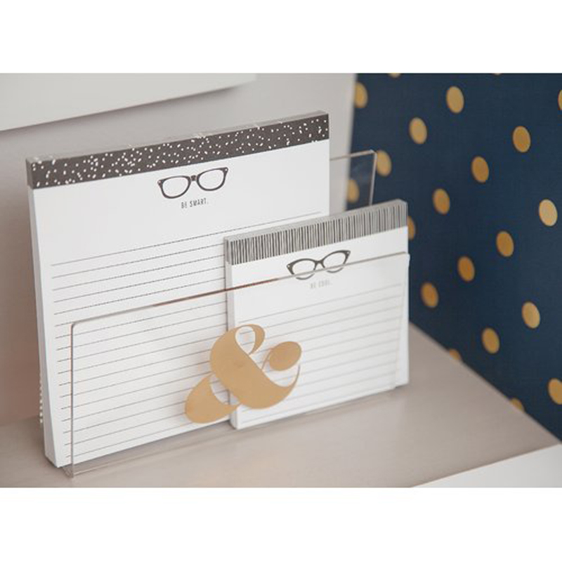 clear plastic desktop book holder,acrylic memo holder