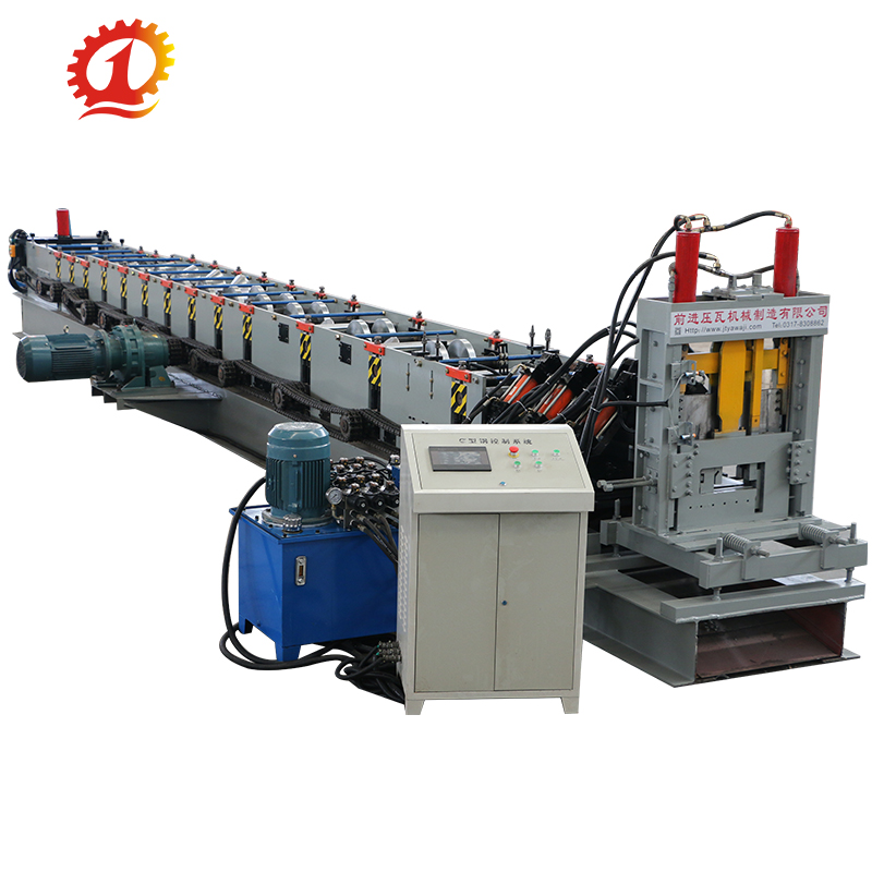 C steel profile purlin cold roll forming machine