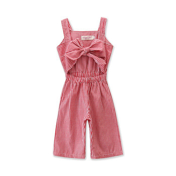 Baby Knitted Clothes Kids Red Gingham Boutique Wholesale Summer Clothes Baby Romper Jumpsuit