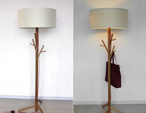 Moderne houten vloer lamp staande lampen product id